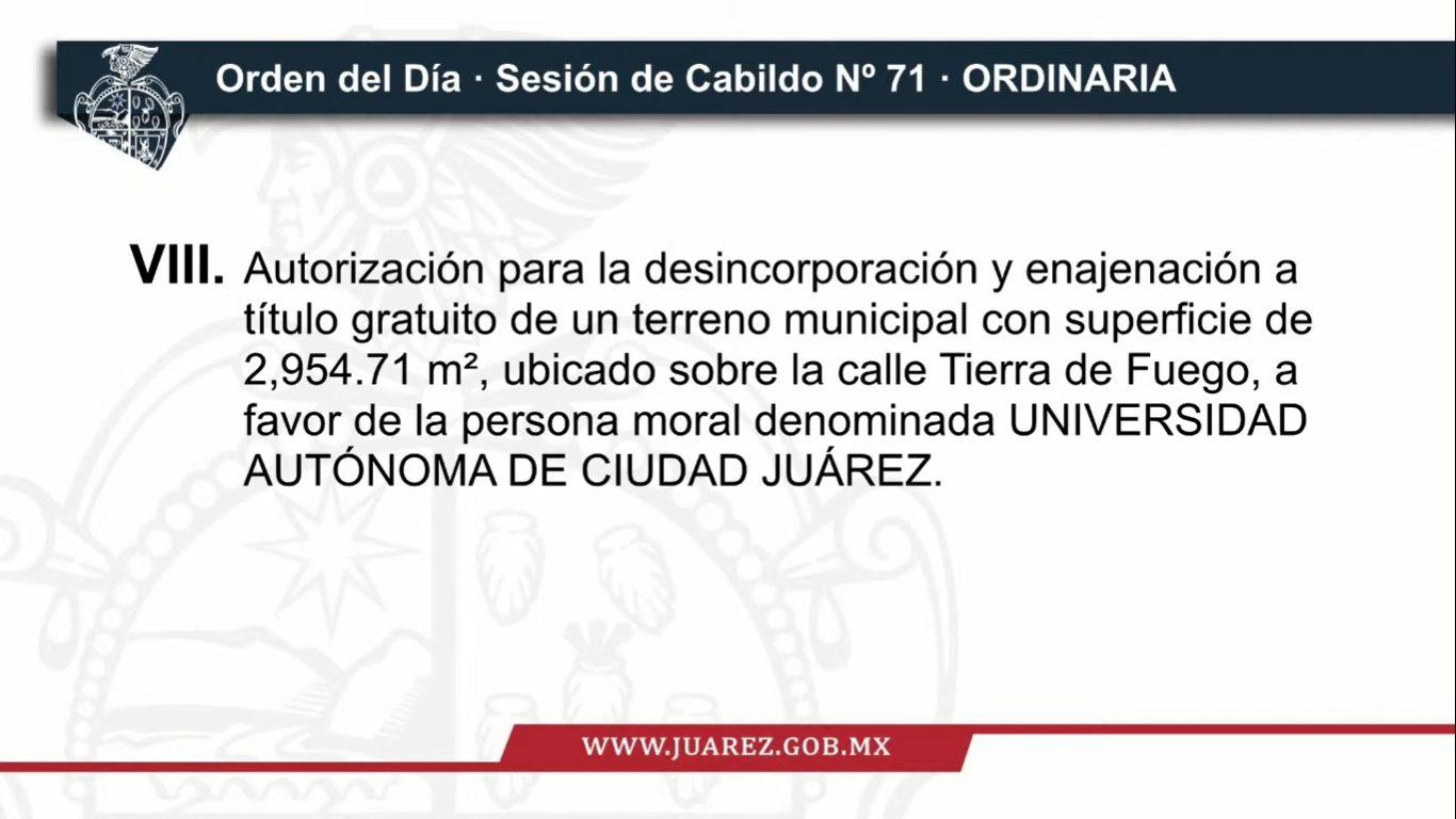 Recibe la UACJ donación de un predio por parte del Ayuntamiento de Juárez