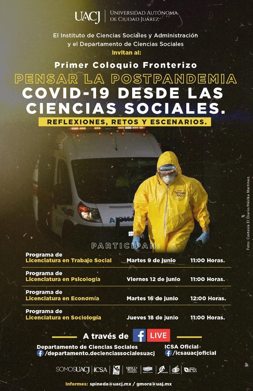 Realizará UACJ el coloquio sobre la postpandemia COVID-19
