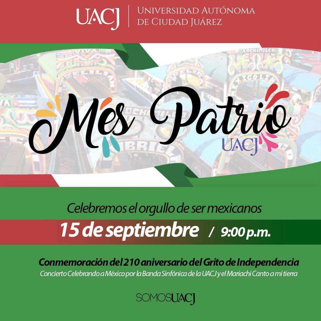La UACJ invita a celebrar las fiestas patrias a través de sus redes sociales