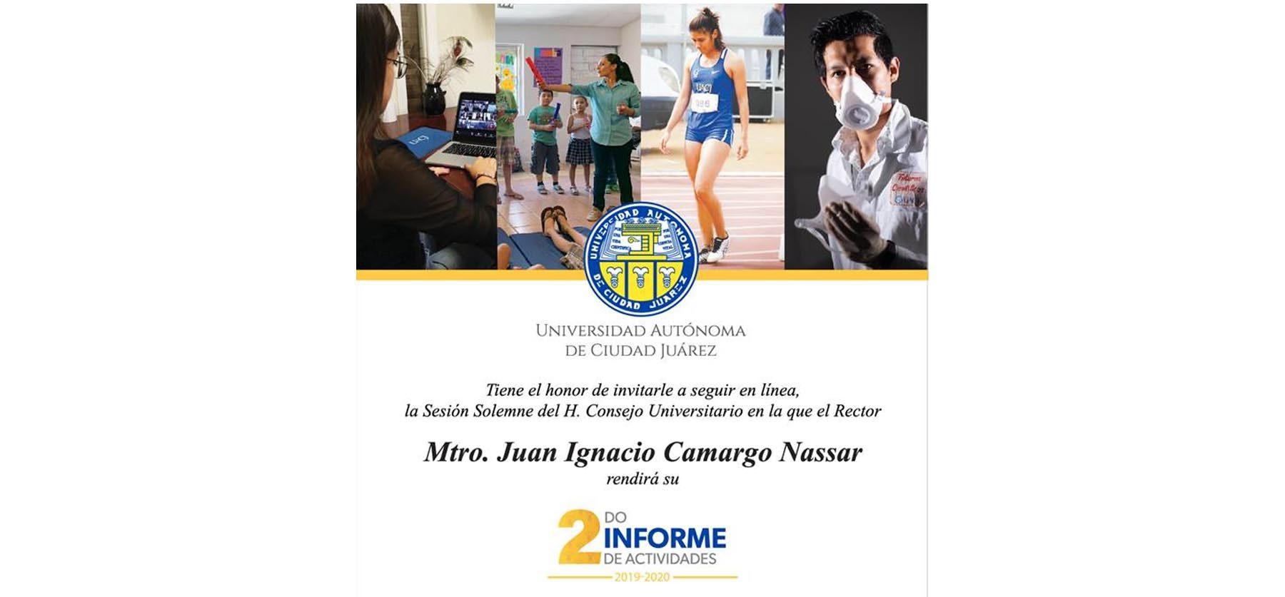 Invita la UACJ a seguir la transmisión del 2do. Informe de actividades