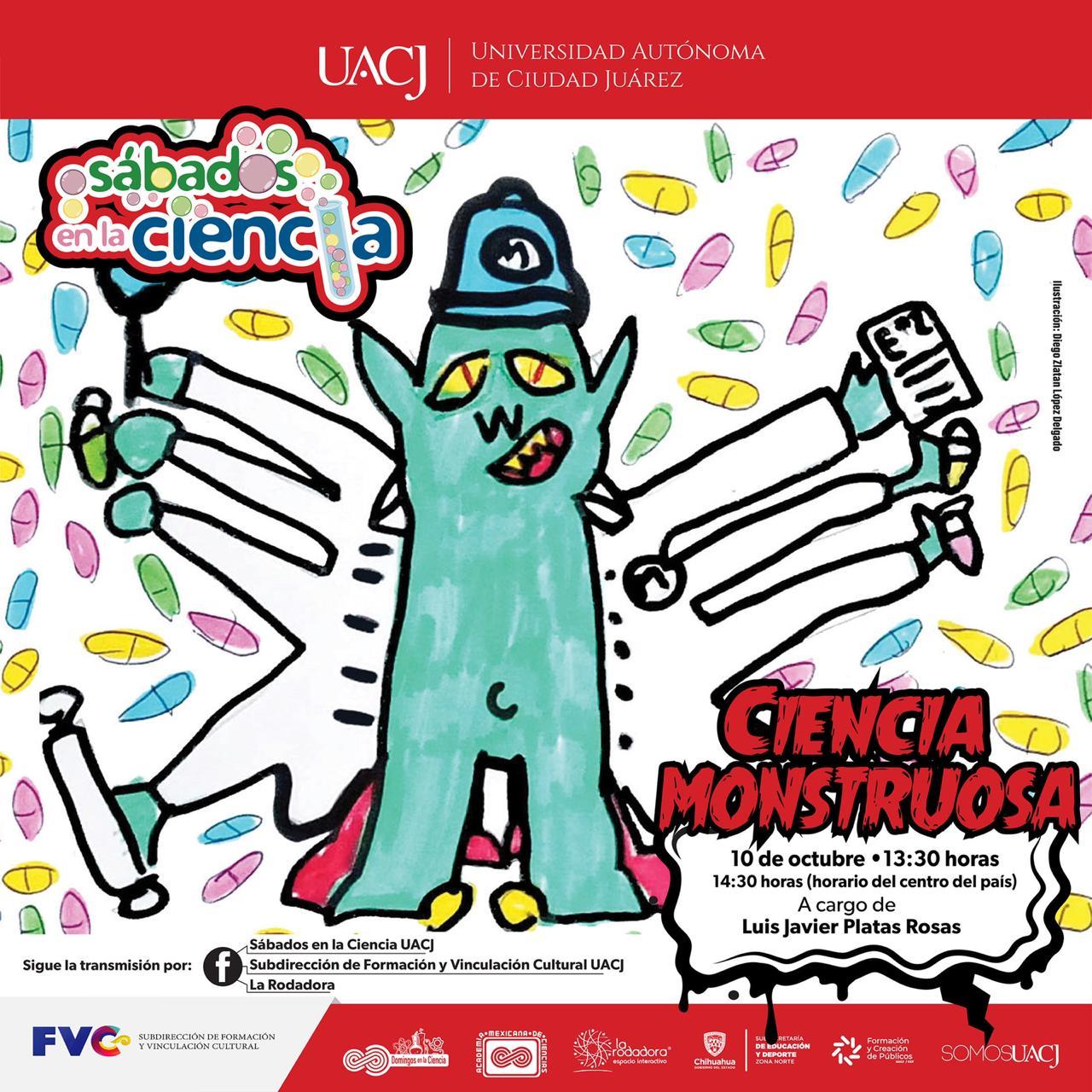 """Sábados en la Ciencia invita a la charla """"Ciencia Monstruosa"""""""
